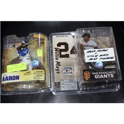 HANK AARON & WILLIE MAYS MINT FIGURINE