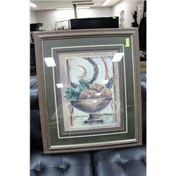 SHOWHOME FRAMED FRUIT BOWL PICTURE
