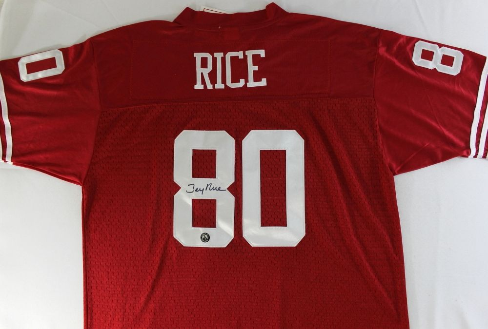 huge selection of 72a7e 80a4e Jerry Rice Signed 49ers Jersey (Rice Hologram)