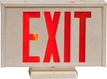 "Lot Of 2 Light-Up Signs, ""Exit"" & 20"" Round ""Game Room"""
