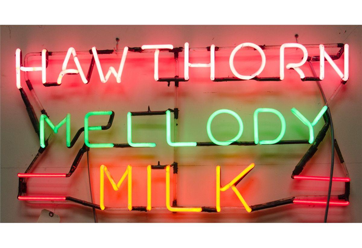 Hawthorn Mellody Milk Neon Sign