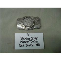 Sterling Silver Belt Buckle