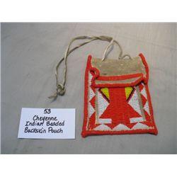 Cheyenne Beaded Buckskin Pouch