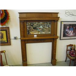 Quarter Sawn Oak Fireplace Mantle