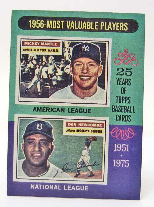 1975 Topps 1956 Mvp Players Mickey Mantle Baseball Card