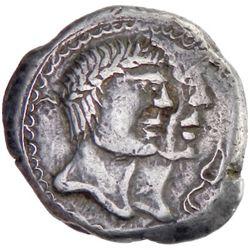 CENTRAL EUROPEAN CELTS: The Boii, mid-late 1st Century BC, AR hexadrachm (17.31g), Bohemia Region, B