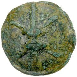 LUCERIA: Anonymous, 217-212 BC, AE aes grave quadrunx (30.11g), Apulia