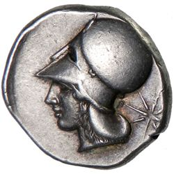 LEUKAS: Anonymous, ca. 420-350 BC, AR stater (8.61g)