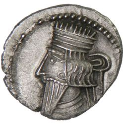 PARTHIAN KINGDOM: Vologases III, AD 105-147, AR drachm (2.78g)