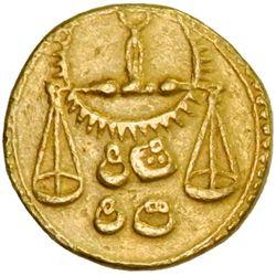 MUGHAL: Jahangir, 1605-1628, AV zodiac mohur, Agra, AH1032 year 18