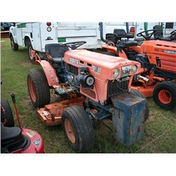 KUBOTA B6100 DIESEL TRACTOR 4 WHEEL DRIVE W/ BELLY MOWER & 3PT HITCH