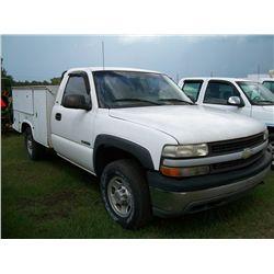 2001 Chevrolet 2500 UTILITY TRUCK Ser#:1GCGC24U91Z169378 Odm#:191471