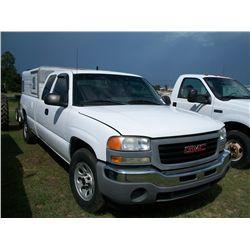 2005 GMC 1500 EXTENDED CAB PICKUP, 4X4 W/ DOG BOX Ser#:1GTEK19V55E254026 Odm#:133648
