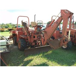 DITCH WITCH 4010 DD DIESEL TRENCHER W/ BACKHOE & BACKFILL BLADE Ser#:6E1010