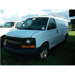 2006 Chevrolet 2500 VAN Ser#:1GCGG25V261181227 Odm#:324650
