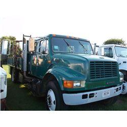 1996 International 4900 CREW CAB FLAT BED TRUCK Ser#:1HTSDAAN5TH266782