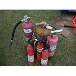 (1) LOT OF FIRE EXTINGUISHERS