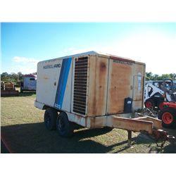 Ingersoll Rand 825 AIR COMPRESSOR W/CUMMINS DIESEL ENGINE TRAILER MOUNTED Ser#:207123U497