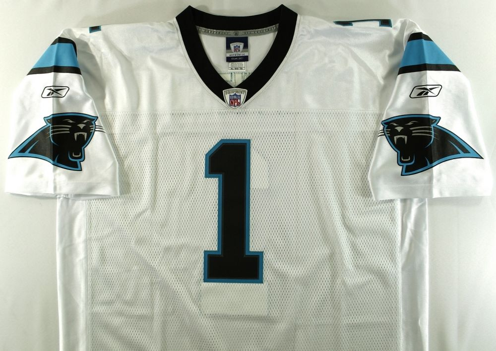 new styles 71d68 1638d Cam Newton Signed Panthers Jersey Inscribed