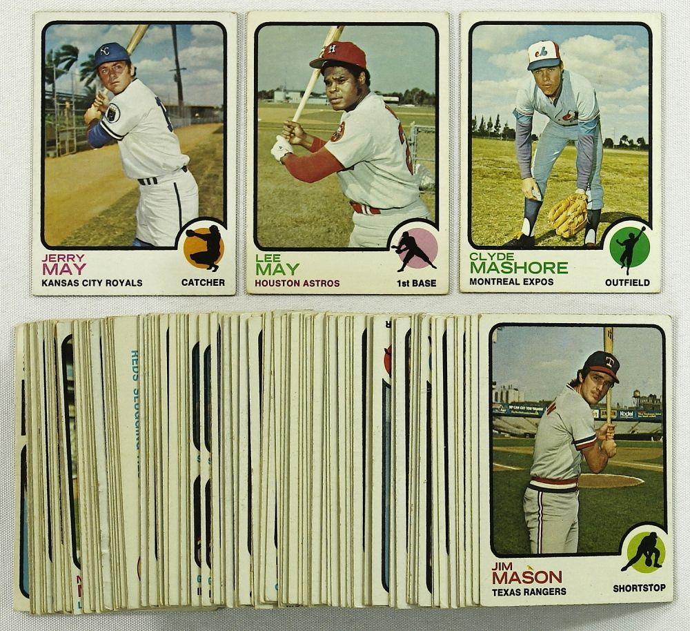 Lot Of 100 1973 Topps Baseball Cards