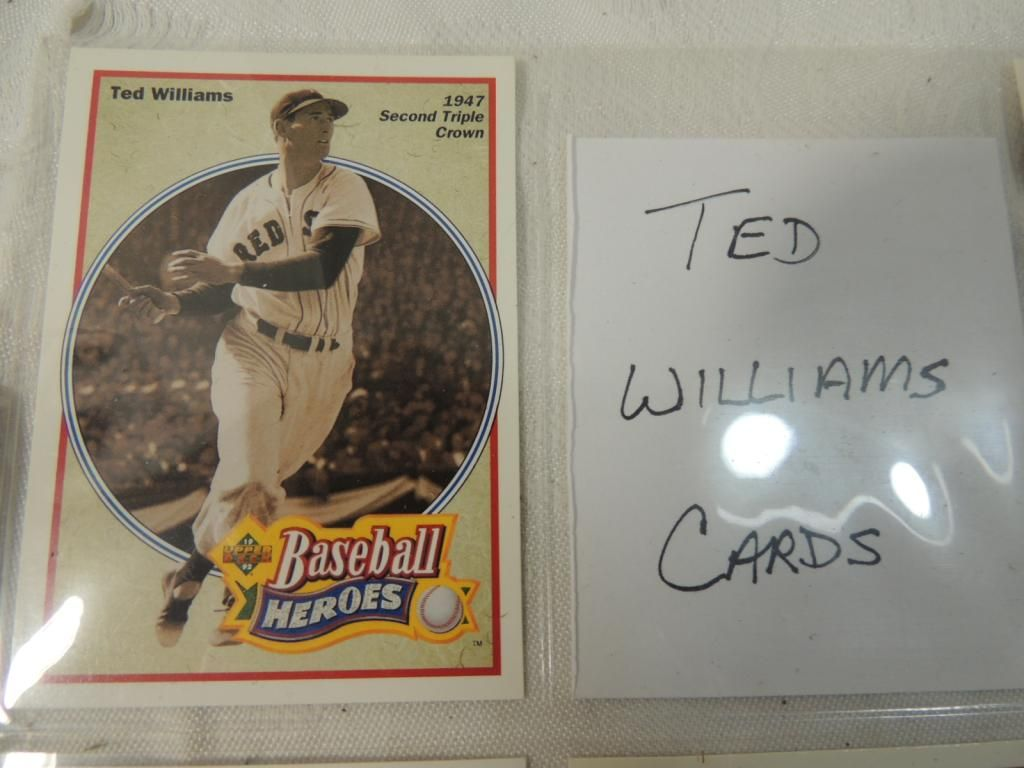 Lot 5 Ted Williams Baseball Player Cards