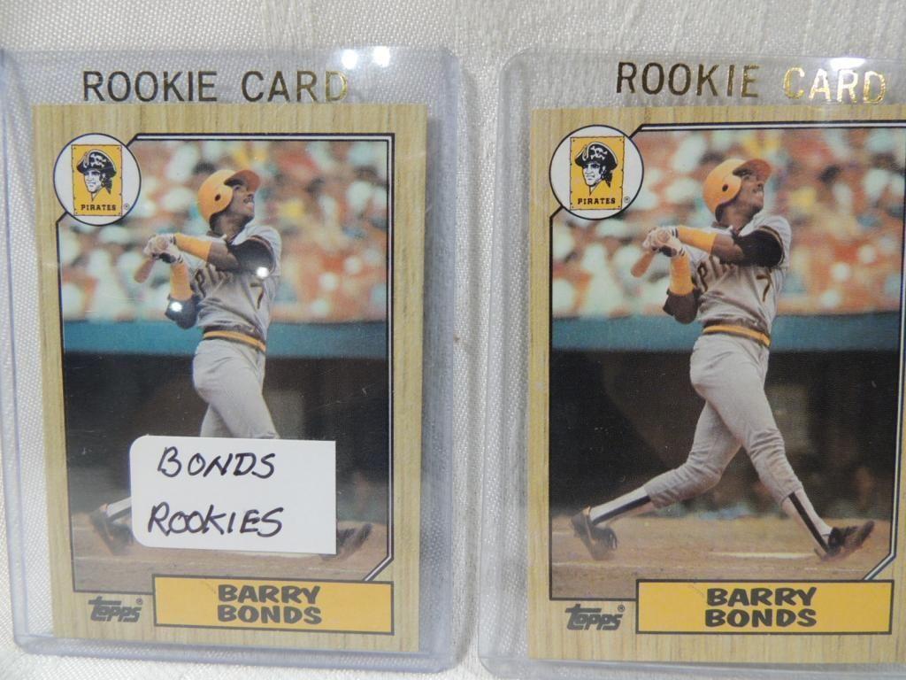 Lot 2 1987 Topps Barry Bonds Rookie Baseball Card