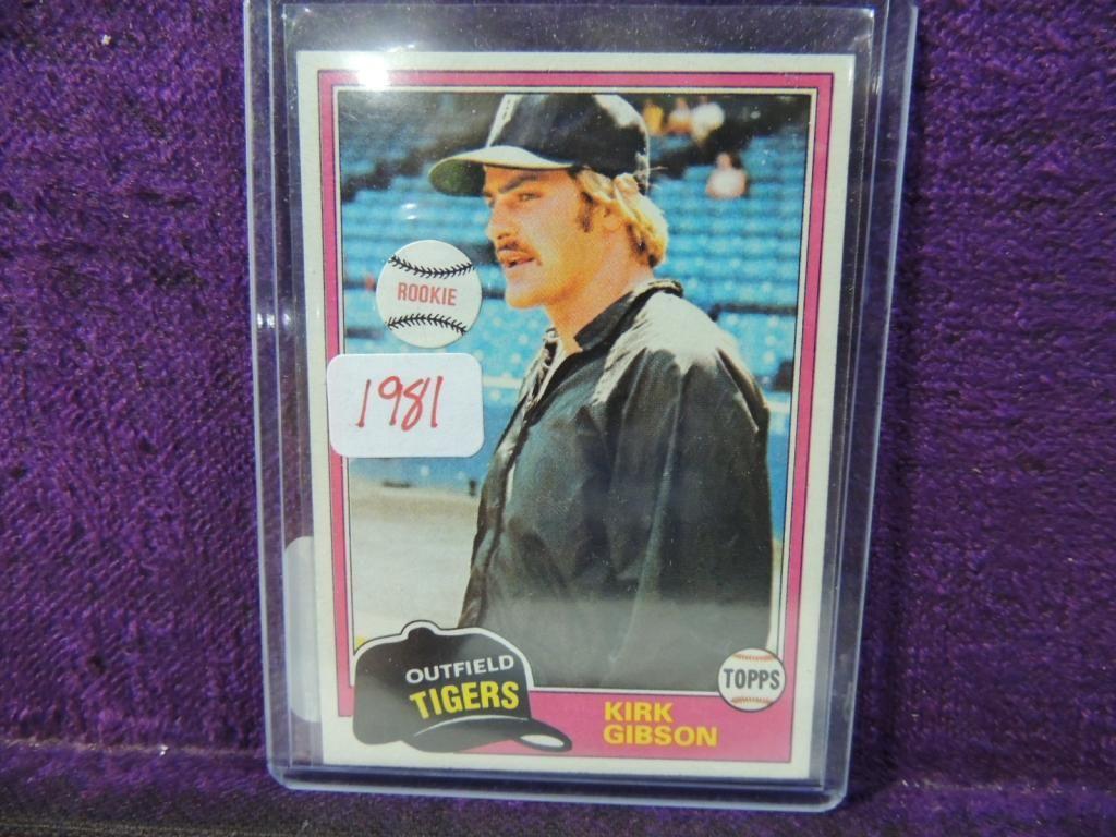 1981 Topps Kirk Gibson 315 Rookie Baseball Card