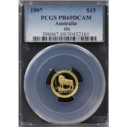 1997 Australian $15 Gold PCGS PR69DCAM
