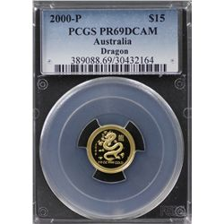 2000-P Australian $15 Gold PCGS PR69DCAM
