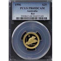 1996 Australian $25 Gold PCGS PR69DCAM