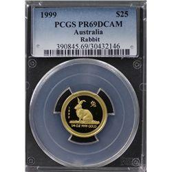 1999 Australian $25 Gold PCGS PR69DCAM