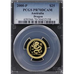 2000-P Australian $25 Gold PCGS PR70DCAM