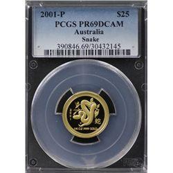 2001-P Australian $25 Gold PCGS PR69DCAM