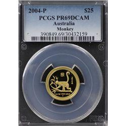 2004-P Australian $25 Gold PCGS PR69DCAM