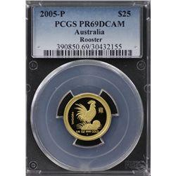 2005-P Australian $25 Gold PCGS PR69DCAM