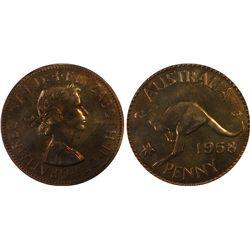 1958(m) Proof Penny PCGS PR64RB
