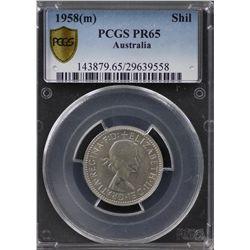 1958(m) Proof Shilling PCGS PR65