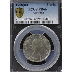 1958(m) Proof Florin PCGS PR66