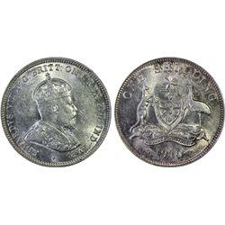 1910 Shilling PCGS AU55