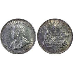 1915-H Shilling PCGS AU53
