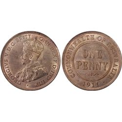 1911 Penny PCGS MS65RB