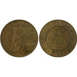 1914 Penny PCGS MS61BN
