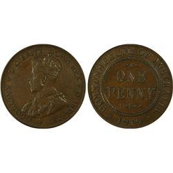 1919 Penny PCGS AU58