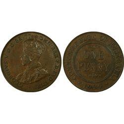 1929(m) Penny PCGS AU58