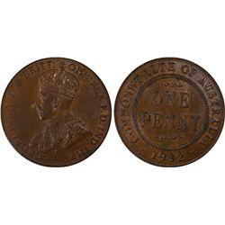 1932(m) Penny PCGS AU58