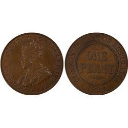 1933(m) Penny PCGS MS63BN