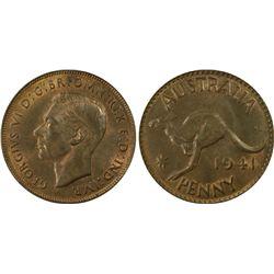 1941(m) Penny PCGS MS64BN