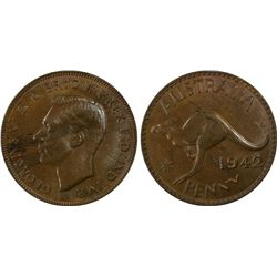 1942(p) Penny PCGS MS63BN
