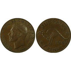 1942(b) Penny PCGS XF45