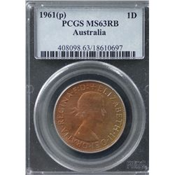 1961(p) Penny PCGS MS63RB